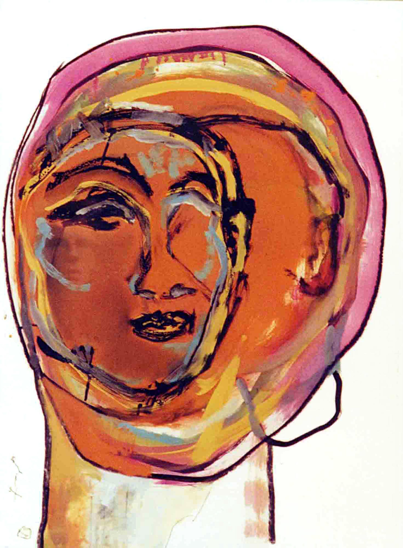 DECREME-Portrait-circulaire-II-Acrylique-et-encre-sur-papier--56x76cm-2009