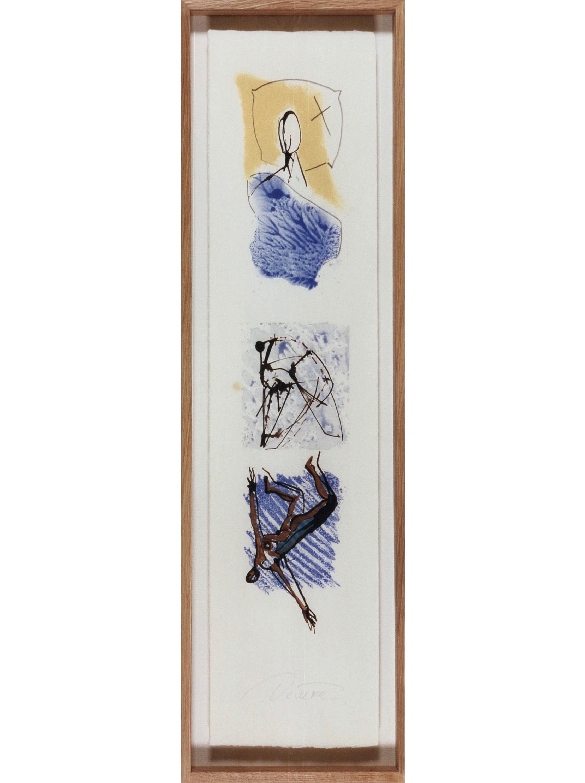DECREME-Le-reve-du-chien-assoiffe_-Technique-mixte-sur-papier_56x16_1994