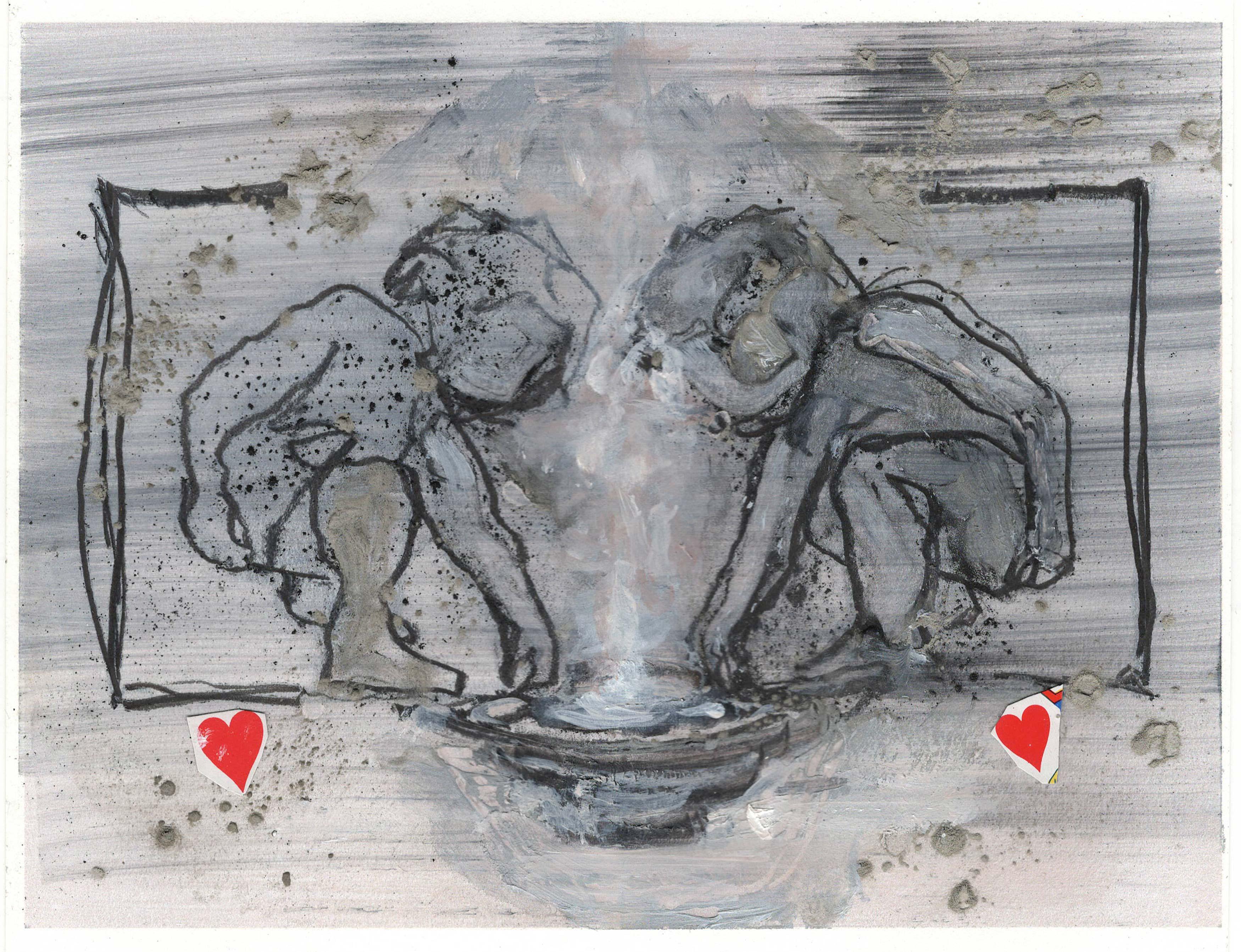 DECREME_CHATEAU-5_Huile-collage-et-crayon-sur-papier_20x15_2018