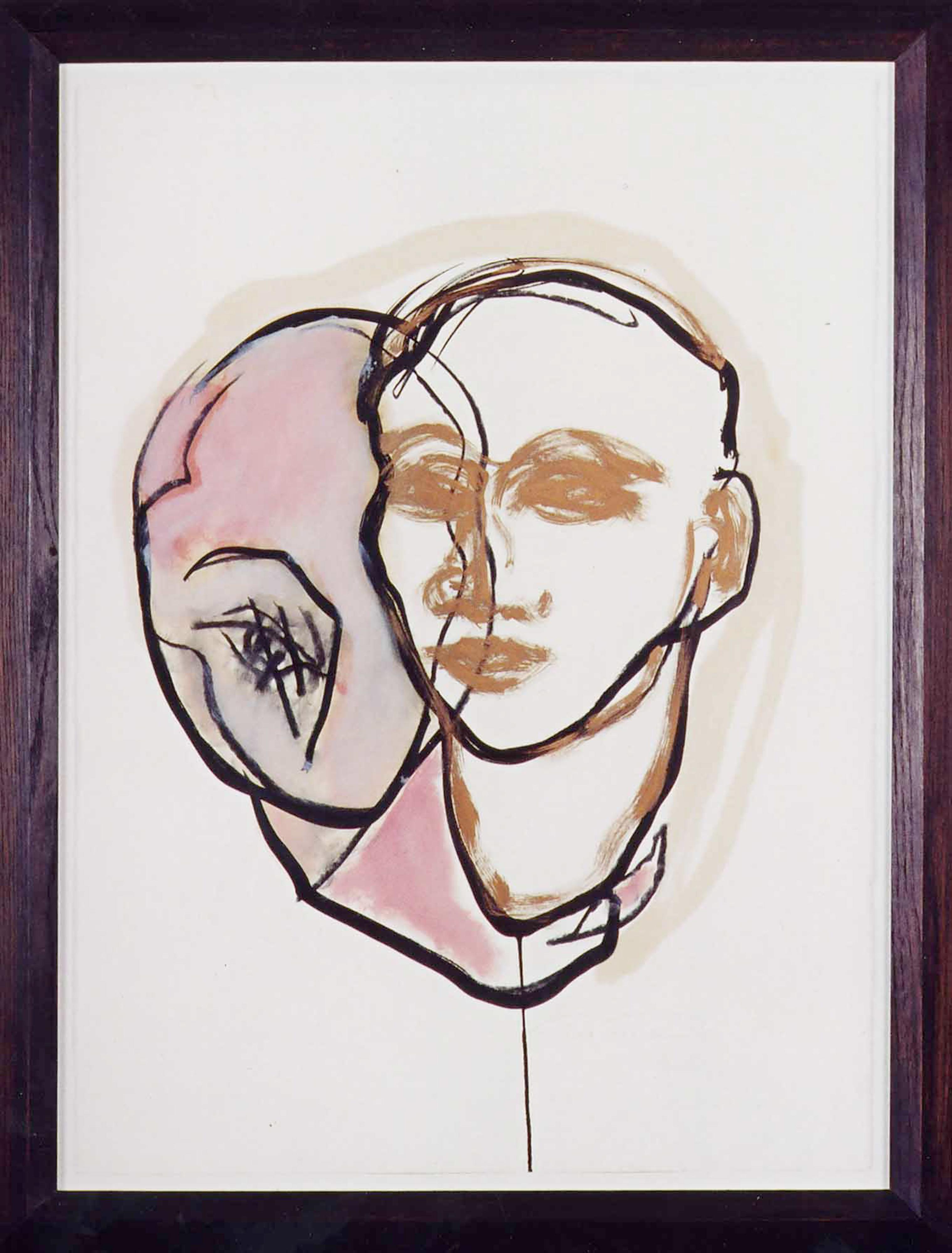 DECREME_Portrait-circulaire_Huile-pigments-et-encre-sur-papier_56x76_2004