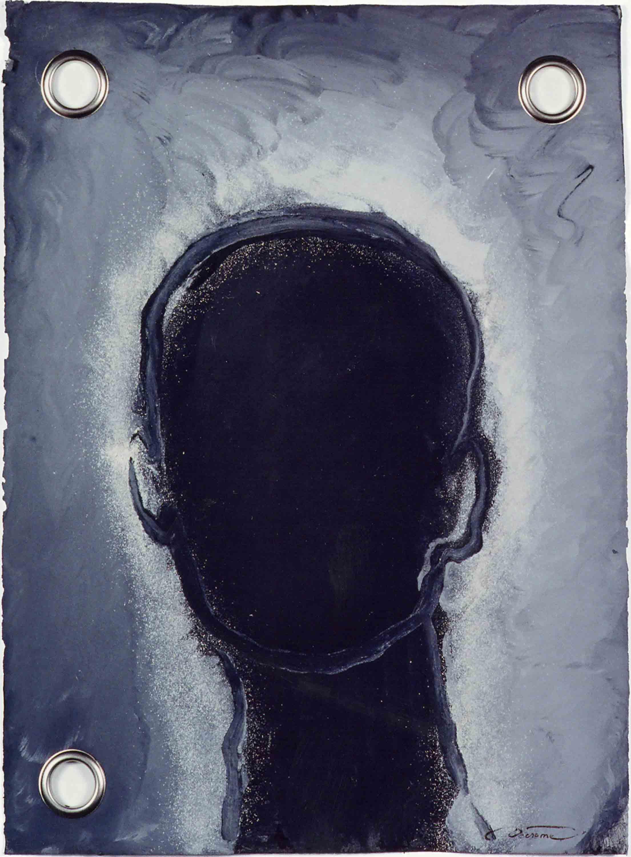 DECREME_Silouhette-(memoire)-Colle de peau, pigments-et-metal-sur-papier-56x76-2008