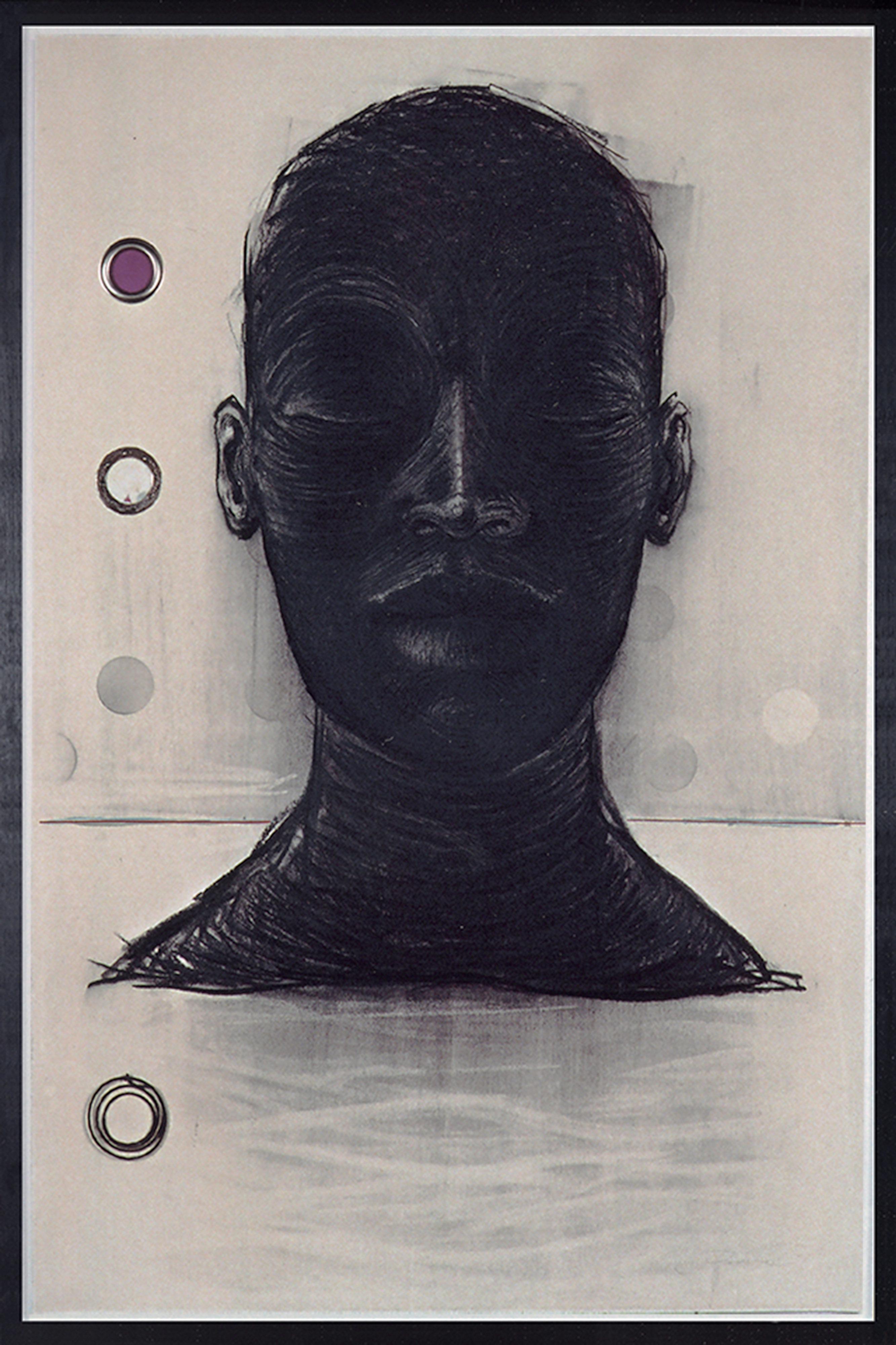 DECREME_continent-VII_fusain-tissu-et-metal-sur-papier_80x120_2004
